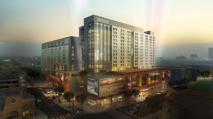 Wagenbrenner/Rockbridge's proposal is for a full-service hotel at the southeast quadrant of High and Goodale streets.