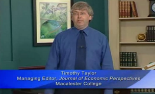 A screenshot of Timothy Taylor from his lecture on economics, posted to the adult site, XVideos.