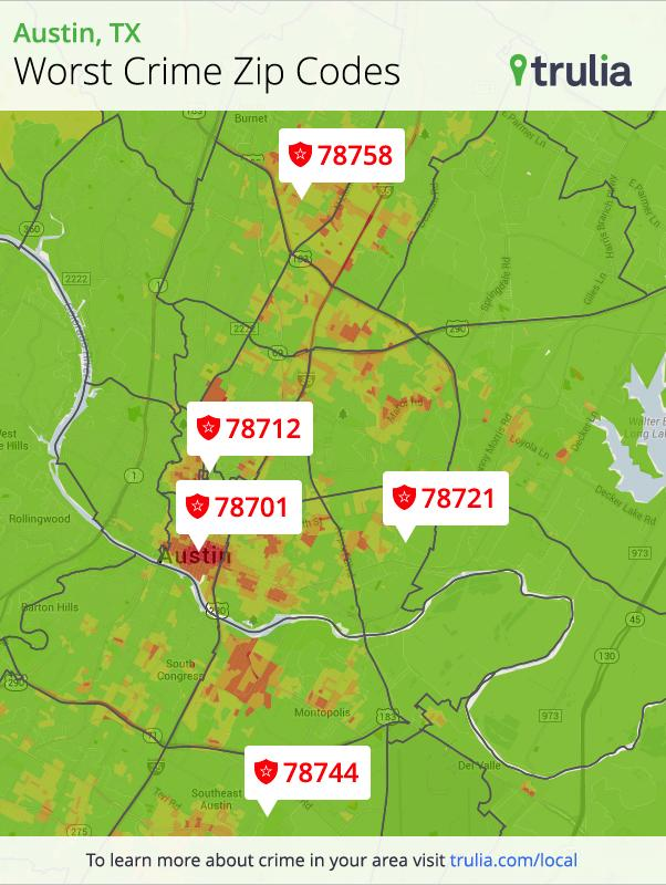 Trulia warns homebuyers of Austin's worst ZIP codes for crime ... on zip code map dallas tx, zip codes by state, map of texas austin and surrounding areas, zip code map 78727, zip codes by city, zip code map for austin and outlying areas, san antonio zip codes surrounding areas,