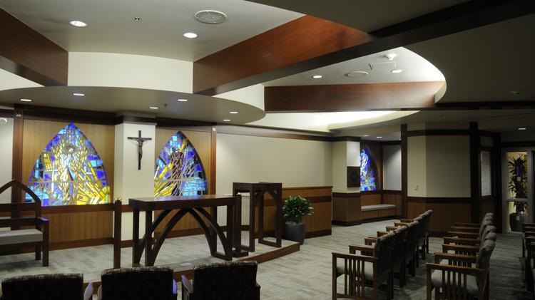 This is the chapel at the Spanos Heart and Vascular Center. The center is expected to open in April, and is designed with patients in mind.