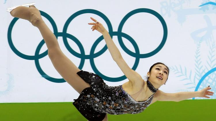 South Korea's Kim Yuna performs in the Ladies' Figure Skating Short Program during the 2010 Winter Olympics in Vancouver, Canada.
