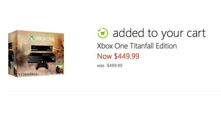 Microsoft's own retail store is discounting the price of the Xbox One console.