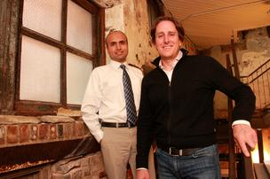 Raleigh startup GroundFloor co-founders Nick Bhargava and Brian Dally.