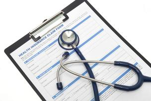 health insurance claim form stethoscope