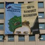Greenpeace protests strike P&G again