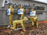 Greenpeace activists also staged a protest in the Philippines at the P&G facility in Cabuyao, Laguna (south of Manila).