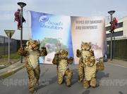Other Greenpeace activists were in Belgium at P&G's Brussels Innovation Center in Grimbergen.