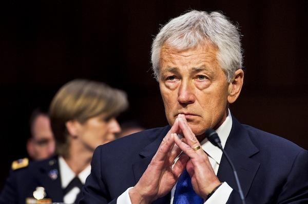 Secretary of Defense Chuck Hagel testified before the Senate Armed Services Committee Wednesday.