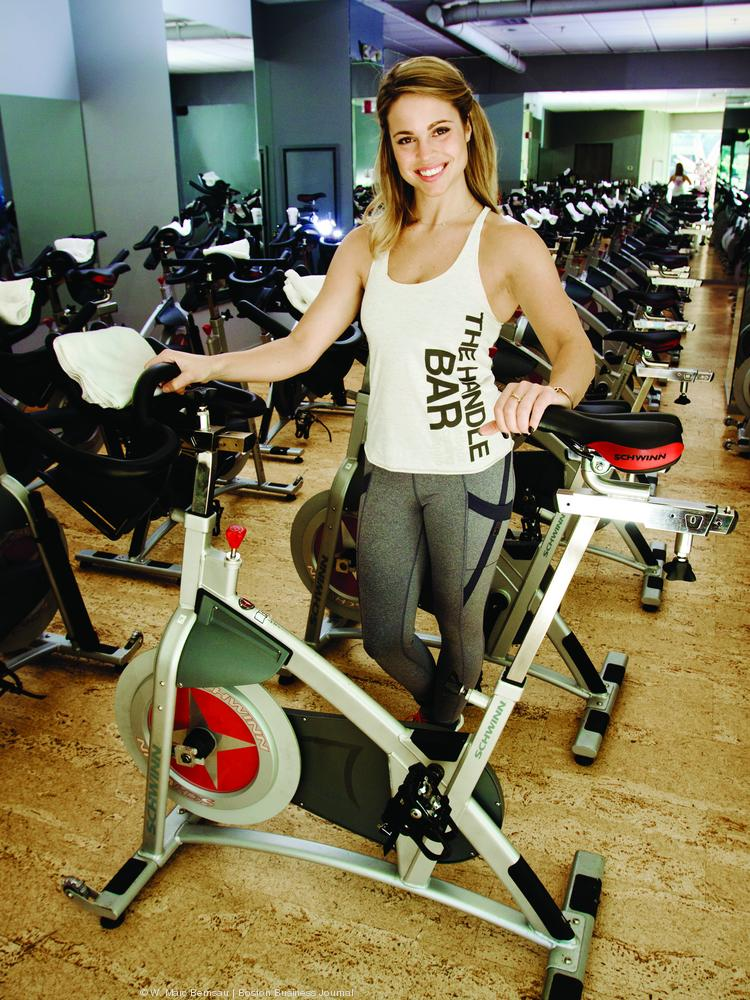 Jess Bashelor, owner/manager of The Handle Bar Indoor Cycling Studio in South Boston.
