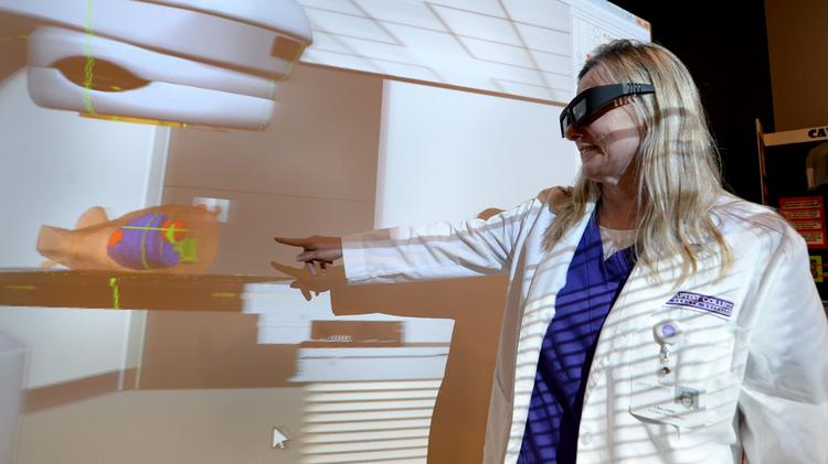 Baptist College of Health Sciences recently purchased a new teaching tool for radiation therapy which creates a 3-D environment that mirrors a radiation therapy treatment room allowing students to treat virtual patients.