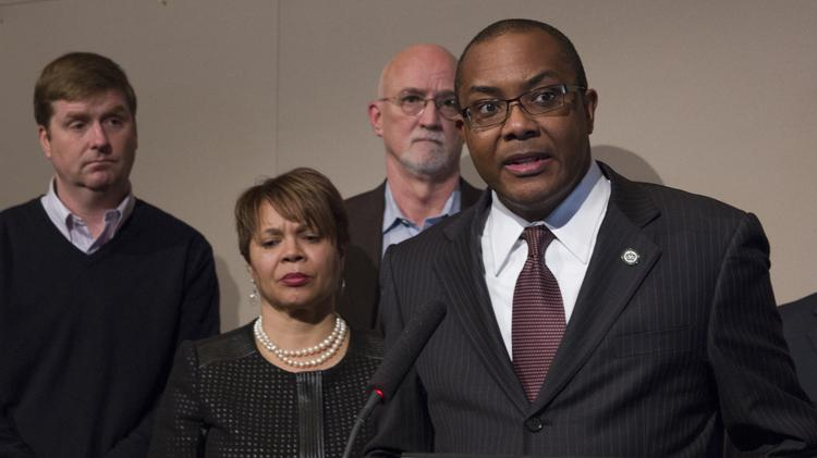 Mayor Pro Tem Michael Barnes, along with fellow City Council members, held a press conference Wednesday regarding Mayor Patrick Cannon's arrest. Since then, Barnes has said he doesn't want to be mayor.