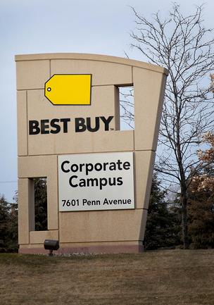 Outside of Best Buy's headquarters in Richfield.