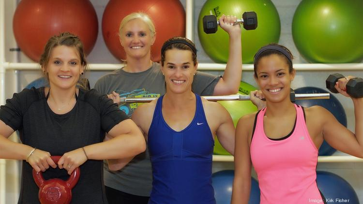 Workout queens, from left, Erin Duffee, Kelly Rigano, Molly Steiner and Miley Phillips.