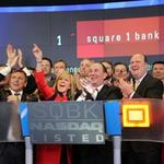 Square 1 Bank takes off in Nasdaq opener