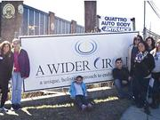 Geppetto Catering workers and associates volunteered for A Wider Circle, which helps families in poverty.