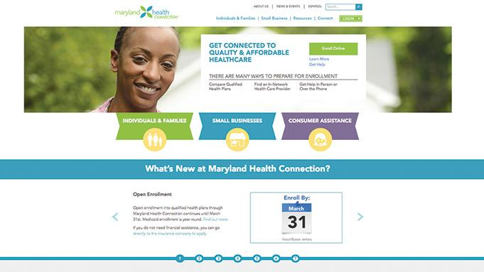 Problems with the Maryland health exchange website caused CareFirst competitor Evergreen to switch its focus to signing up small businesses.