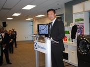 Electrolux's Jack Truong begins the R&D center tour.