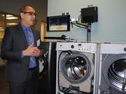Flavio Bernardino, senior vice president of cooking, laundry and dish products at Electrolux, explains how the company designs washers and dryers to minimize any shaking.
