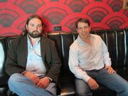 Alamo owners Anthony Coco, left and Joseph Edwards take a load off in the theater's lobby.