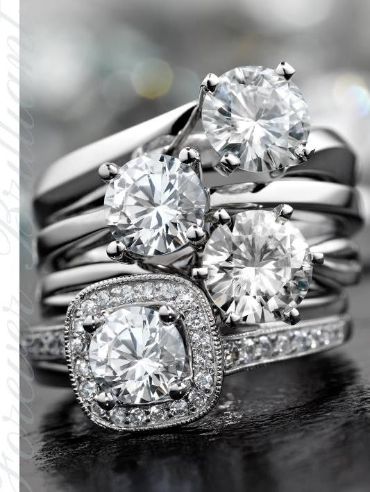 Forever Brilliant moissanite jewels are made from silicon carbide sourced from Cree and cut in Morrisville.