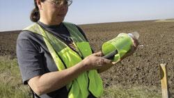 Personal Protective Equipment is an important part of the Texas Boll Weevil Eradication Foundation safety program. This reflective vest ensures the employee's visibility and provides pockets for job-related tools, keeping the employee's hands free.