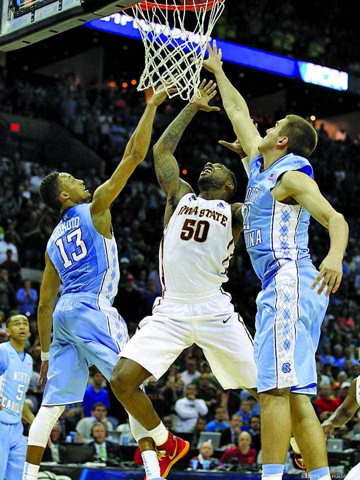 North Carolina and Iowa State were among the teams that played in second- and third-round NCAA tournament games in San Antonio.