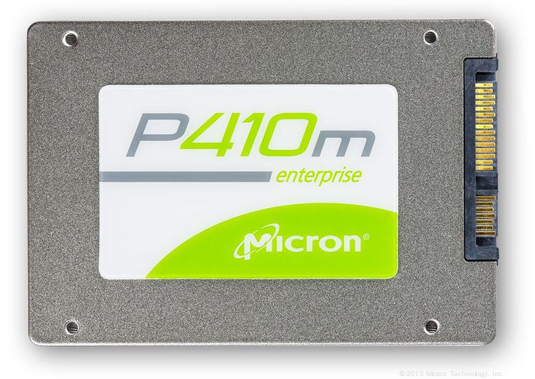 Micron Technology is offering a new robust solid-state drive, the P410m SSD, for data centers and enterprise storage. The device in its case is the size of a credit card and as thick as three credit cards.
