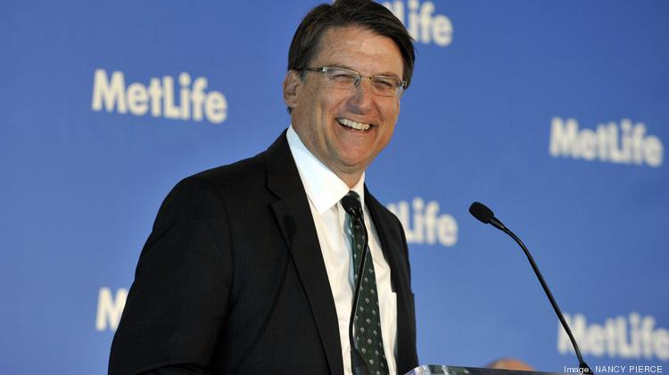 Gov. Pat McCrory, pictured here at MetLife's recent grand opening here, said it will take time to recover from Charlotte's mayoral scandal.