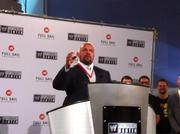 WWE's Executive Vice President of Talent and Live Events Paul Levesque, also known as Triple H, at the announcement of the new WWE Performance Center in Orlando.