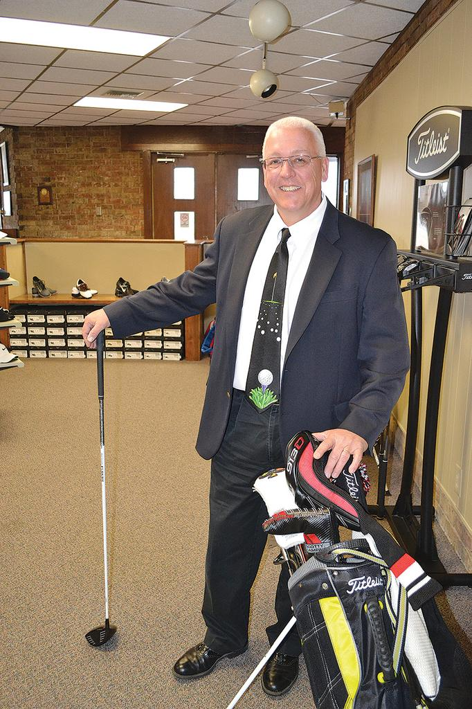 Don Harrison, Wichita's golf course manager, pictured in Tex Consolver's pro shop, says rounds at city courses continue to climb.
