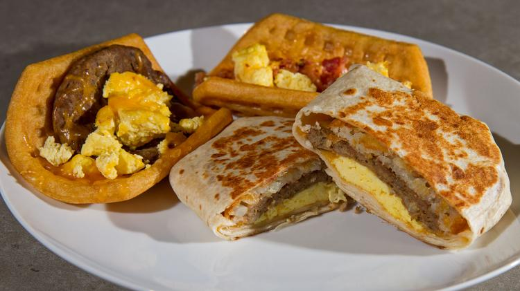 Taco Bell Corp. introduced its new breakfast menu, which includes Waffle Tacos and A.M. Crunchwraps, on March 27.