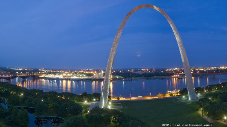 The Gateway Arch and riverfront.