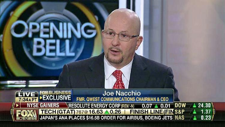"""Joseph Nacchio, former Qwest Communications International CEO who served prison time for insider trading, was interviewed March 27, 2014, on Fox Business Network's """"Opening Bell with Maria Bartiromo."""""""