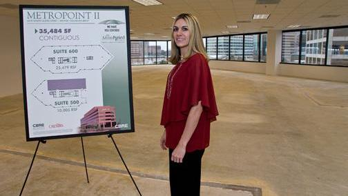 Pamella Arquitt, vice president for finance and merchant services at Mercury Payment Systems, is seen in early 2013 when the company leased more space in the Denver Tech Center.