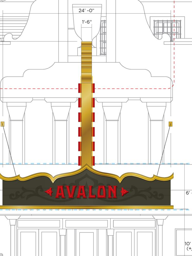 The owner of the Avalon Theatre wants to add a 24-foot sign reminiscent of the 1920's movie palaces.