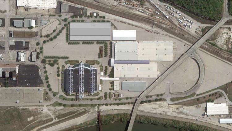 The following site plan provided by Foutch Brothers LLC shows a proposed American Royal Association arena being located just east of Kemper Arena, allowing the buildings to co-exist.