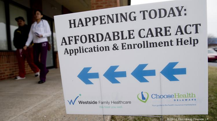 An Affordable Care Act application and enrollment help sign