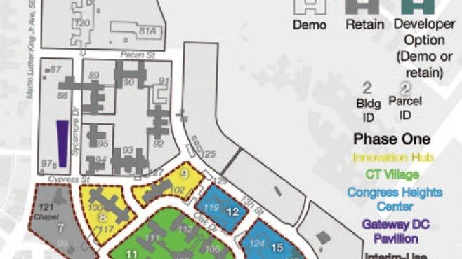 The District is on the hunt for a master developer to tackle Phase 1 of the St. E's east redevelopment.