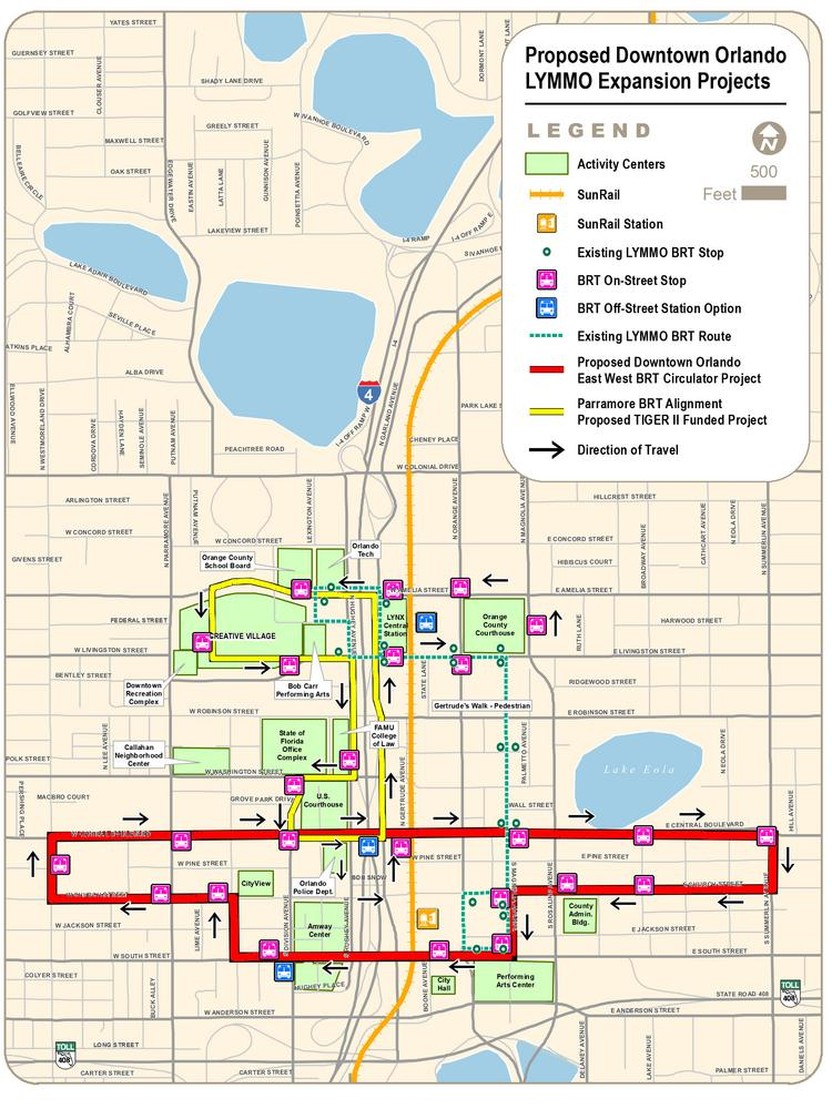 Lynx, the Central Florida Regional Transportation Authority, plans to launch two expansion routes for its downtown Lymmo bus circulator this year.