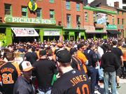 Pickles Pub near Oriole Park at Camden Yards opened at 6 a.m. Monday to accommodate early-rising Orioles Fans on Opening Day.