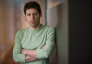 Sam Altman, president of Y Combinator, stands for a photograph after a Bloomberg West Television interview in San Francisco, California, U.S., on Tuesday, Feb. 25, 2014.