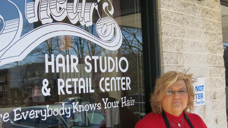 Dawn Blevins, owner of Shears in Hunt Valley, says she counts many McCormick employees as clients at her salon.