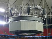 Avants set up supplemental audio systems, including large arrays of extra speakers around the stadium and pickup microphones under the court and on the backboard.