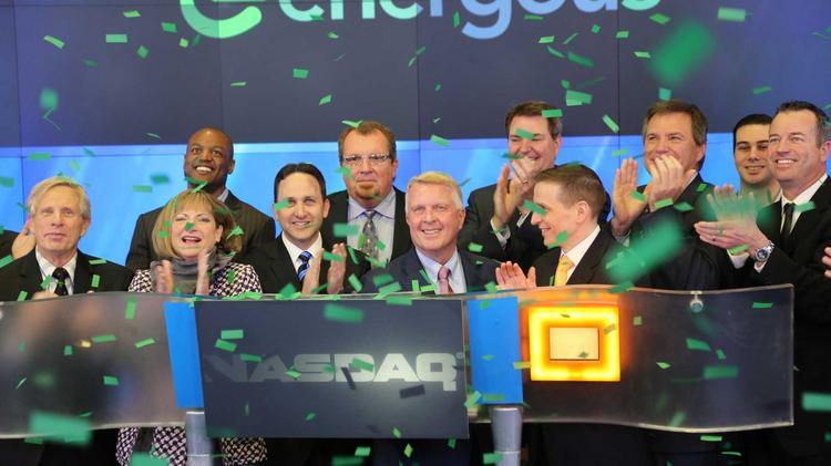 Up 145.8% — Energous: The Pleasanton company led by CEO Stephen Rizzone doesn't expect to see revenue from its wireless charging technology until next year at the earliest. But its stock soared on Nasdaq on Friday after it raised $24 million by selling shares at $6. It closed the quarter on Monday at $14.75. The company's biggest stakeholders before the IPO were founder Michael Leabman's parents and Absolute Ventures.