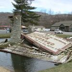 Iconic Grandfather Mountain sign in Linville destroyed by high winds