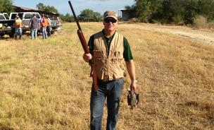 Brad Duea, president of Shoutz, at Palama Pachanga at Weaver Farms in Hondo, Texas.