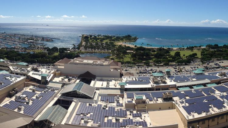 Ala Moana Center recently completed one of Hawaii's largest rooftop solar energy projects, which includes more than 4,730 panels covering 85,000-square-feet of previously unused roof space atop the state's largest shopping mall.