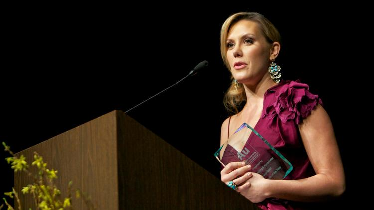 Kendra Scott addresses the audience at the 2013 Austin Under 40 Awards, where she won Austinite of the Year. Click the image to launch a slideshow from last year's awards ceremony.