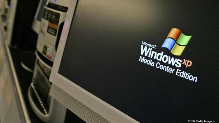 Microsoft will no longer update or provide support to Windows XP after today. (Photo by Justin Sullivan/Getty Images)