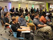 Here's a look at a previous IndieNomicon event held March 6. Developers get the chance to show off their work and gain feedback from other local developers.